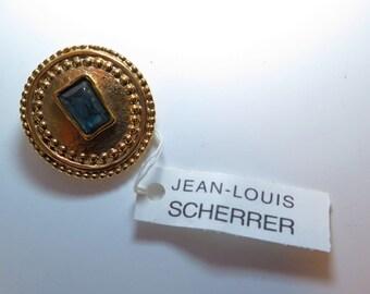 Jean Louis Scherrer Vintage Scarf Ring Signed 1980s