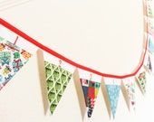 Advent Calendar Bunting  Countdown to Christmas  Pocketed fabric flags  Festive gift garland  Christmas tradition  Winter fun for kids
