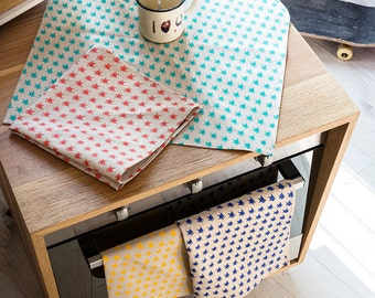 Set of 4 placemats or canvas COLORS - hand screen printed cotton