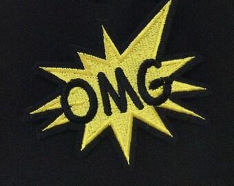 OMG Emoji Embroidered Pin
