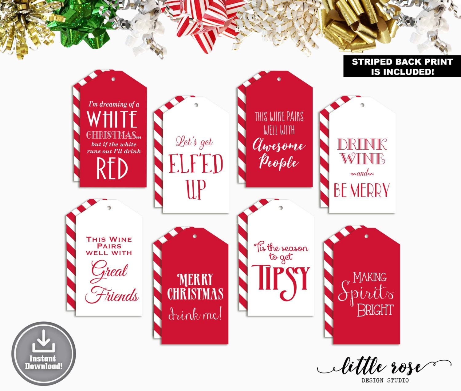 printable wine tags holiday wine tags christmas wine tags