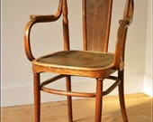 vintage bentwood armchair Kohn like Thonet made in Austria antique solid wood  2 of 2