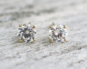 Diamond Stud .92 CTW 14K Yellow Gold Earrings