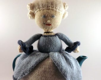 Knit Marie Antoinette Teapot Cozy - Knit Teapot Cosy - Knitted Tea Cosy - Knit Teapot Cover