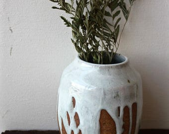 White Poured Glaze Vase