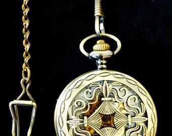 Atrayu Pocket Watch - Brass