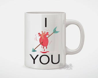 I Love Real Heart You Coffee Mug
