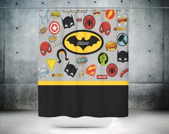 Batman Curtains Etsy