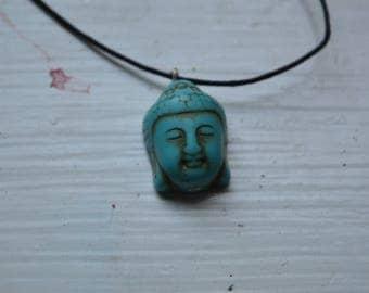 Turquoise Buddha Head Pendant