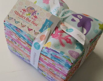 Under The Sea Fat Quarter Bundle by Riley Blake Fabrics