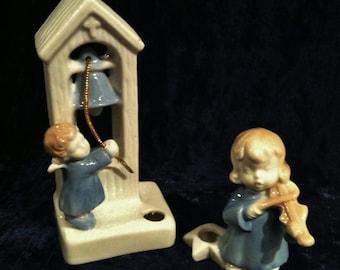 Vintage Ceramic Angels Candle holders