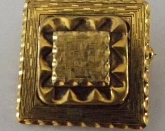 Vintage Signed Freirich Brooch, Freirich, Freirich brooch, signed brooch, brooch, gold pin, vintage pin, vintage brooch, gold Freirich