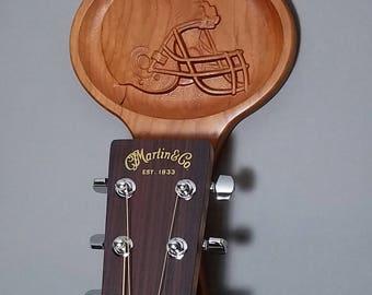 Guitar Hanger, Music Lover Gift, Instrument Hook, Football Carving, Studio Guitar Hanger, Wood Guitar Hook, Wall Mount Hanger, Home Fashion