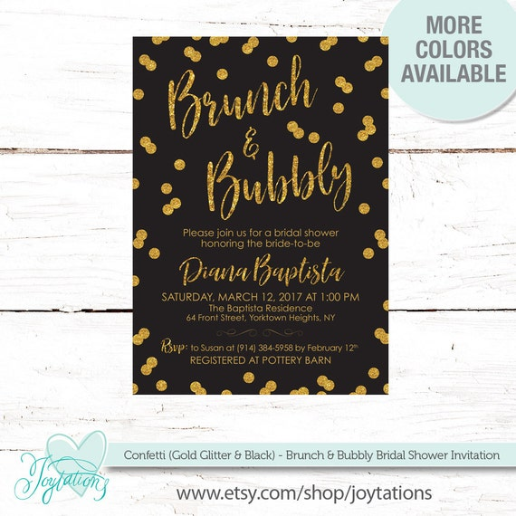 Brunch and bubbly bridal shower invitation printable gold glitter il570xn filmwisefo