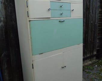Vintage C20th 1950's Fortress kitchen cupboard larder unit