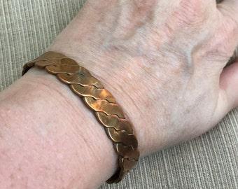 Twisted Copper Cuff -- 55