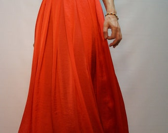 Summer Long Skirt/Coral Skirt/Convertible Skirt/Asymmetrical Skirt/Casual Skirt/F1118