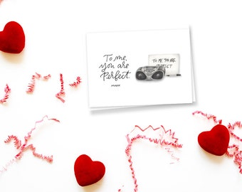 to me you are perfect love actually greeting card // valentine's day card // galentine's card // greeting card friend // for her // for him