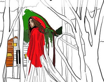 Adult Colouring Book of Fairytales