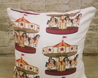 100 % ORGANIC cushion cover Parisian Carousel