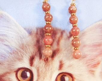 LEPIDOLITE EARRINGS, Lepidolite jewelry,  gemstone earrings, gemstone jewelry, lepidolite stones, purple earrings, purple jewelry - 1489G