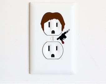Han Solo - Star Wars - Electric Outlet Wall Art Sticker Decal