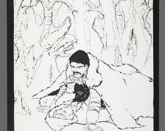 1978 Howard Chaykin Plate 3 Print Robin Hood Limited Edition 856/1000 Black & White Art 15 x 11