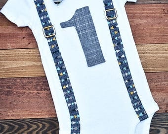 Baby's First Birthday Outfit, Baby Boy Birthday Onesie®, Baby Boy Bodysuit, Arrows Birthday Onesie, Baby Boy Birthday Outfit, First Birthday