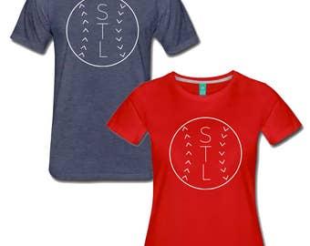 Men's and Women's St Louis Cardinals STL Baseball T Shirt