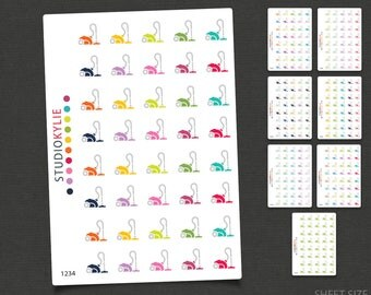 Vacuum Icons -  Planner Stickers  - Repositionable Matte Vinyl to suit all planners