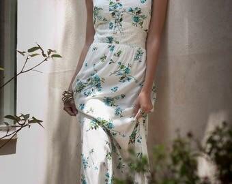 "White Summer Maxi Dress, Hippie Urban Dress, Evening Summer Dress, ""Mango Dress"", Unique Maxi dress, Romantic Floral Cotton Lace Boho dress"