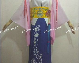 Final Fantasy X Yuna Custom Made Cosplay Costume