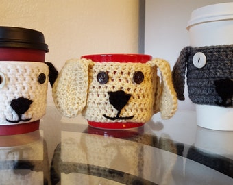 Dog coffee cup cozy