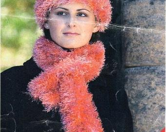 Eyelash yarn hat Etsy
