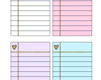 Notes Planner Stickers 16 piece set , Journals , Calendar , reminder , Labels , Teens , Adults