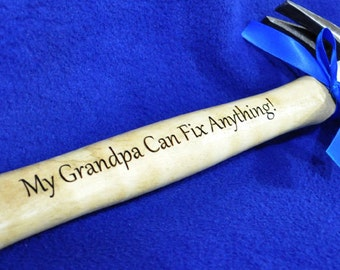 Gift For Grandpa ~ Engraved Hammer ~ Grandfather Gift ~  Personalized Hammer ~ Custom Gift For Grandpa ~ Grandpa ~ Birthday Gift For Grandpa