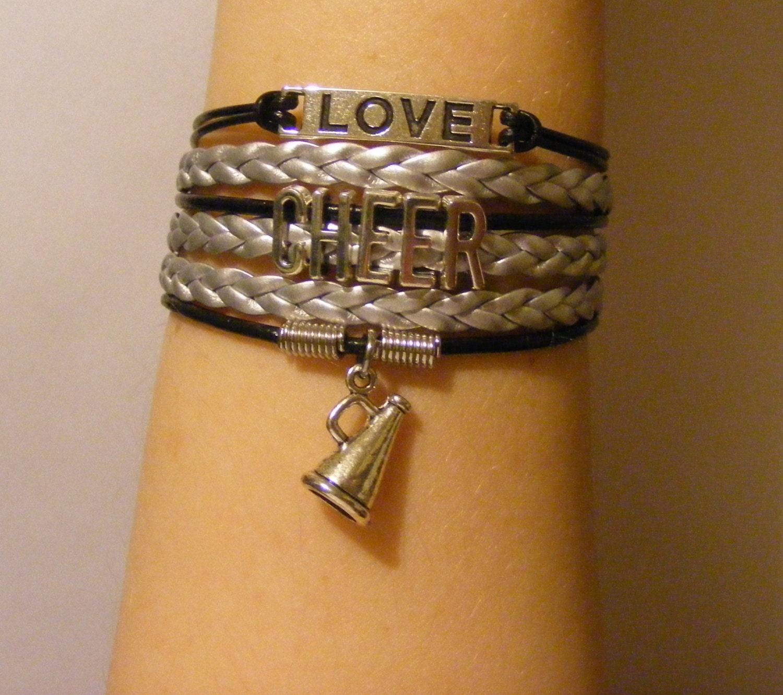 Cheer Charm Bracelets: Cheer Bracelet Cheer Jewelry Cheerleading Bracelet