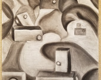 Charcoal Still-life Abstract