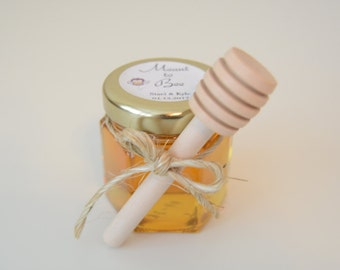 25 SET Personalized honey Favors -Meant to bee-mini mason jar favor, wedding favor, buffet, Grade A Clover Honey Favor - new shipping rate