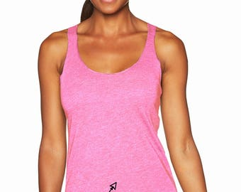 Barre Arrow Bottom Racerback Tank Top