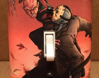 Freddy Vs Jason Light Switch Cover - Handmade - Horror