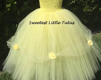 3T Belle Tutu Dress/ Ready to Ship!/ Yellow Tutu Dress/ Yellow Princess Dress