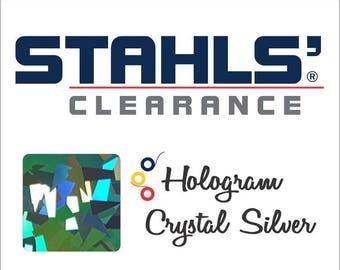 "8"" x 10 Yards - Stahls' Hologram - Craft Roll - Iron-on - Heat Transfer Vinyl - HTV - Crystal Silver"