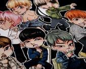 BTS Bangtan Boys Boys Blood Sweat & Tears WINGS | RapMonster, Jin, Jimin, Jungkook, V, Suga, JHope | Stickers