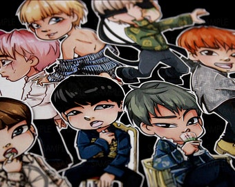 BTS Bangtan Boys Boys Blood Sweat & Tears WINGS | RapMonster, Jin, Jimin, Jungkook, V, Suga, JHope | Stickers