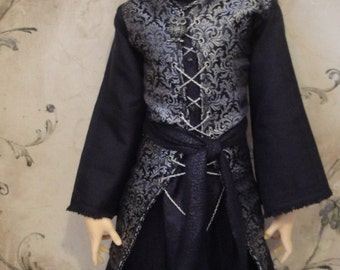 Dark Noble Outfit for Male Delf, Super Dollfie, Feeple 60 and similiar sized dolls