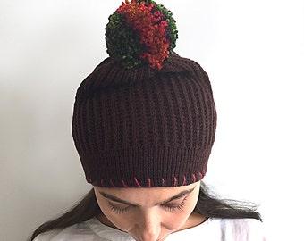 VALENTINE'S Day GIFT, EXPRESS Shipping, Pom Pom Beanie, Pom Pom Hat, Wool Pom Pom, Special Gift, Gift For Her, Valentine's Gift, Lover Gift