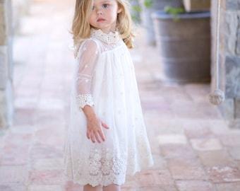 Child lace dress, Angel dress, Christening dress