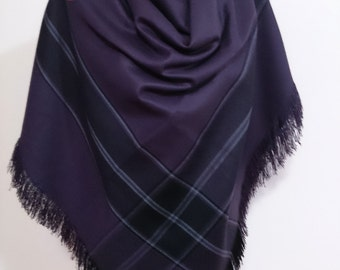 thank you gift, Plaid Scarf, Blanket scarf, wife gift, mothers day gift, mom gift, oversized scarf purple,