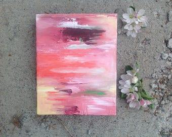 Pink Abstract Painting, 8x10 Canvas Art, Canvas Wall Art, Blush Abstract Art, Pink Modern Art, Original Art, Pink Artwork, Original Abstract